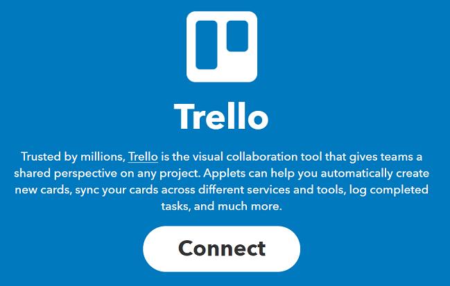 IFTTTとTrelloを連携させる