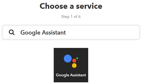 thisにGoogle Assistantを設定